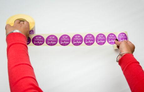 round label stickers