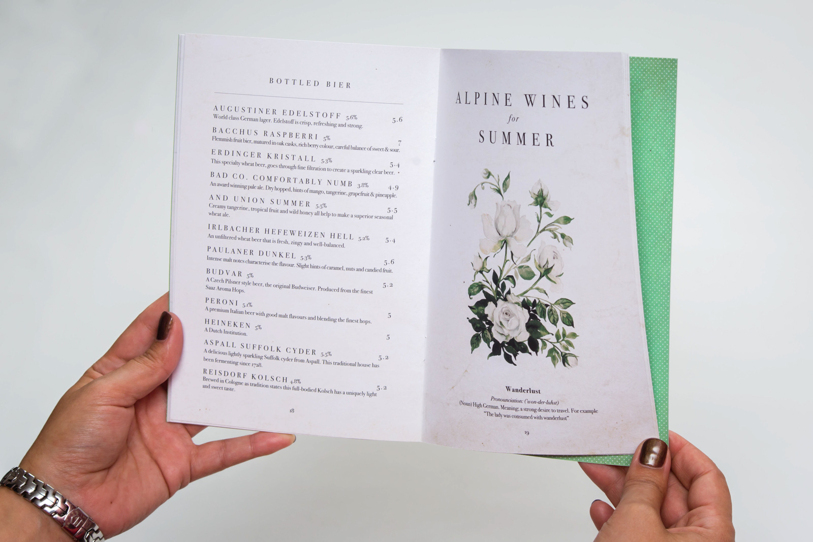 Menu's and Brochures
